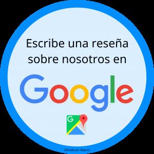 Escribe una reseña sobre nosotros en Google